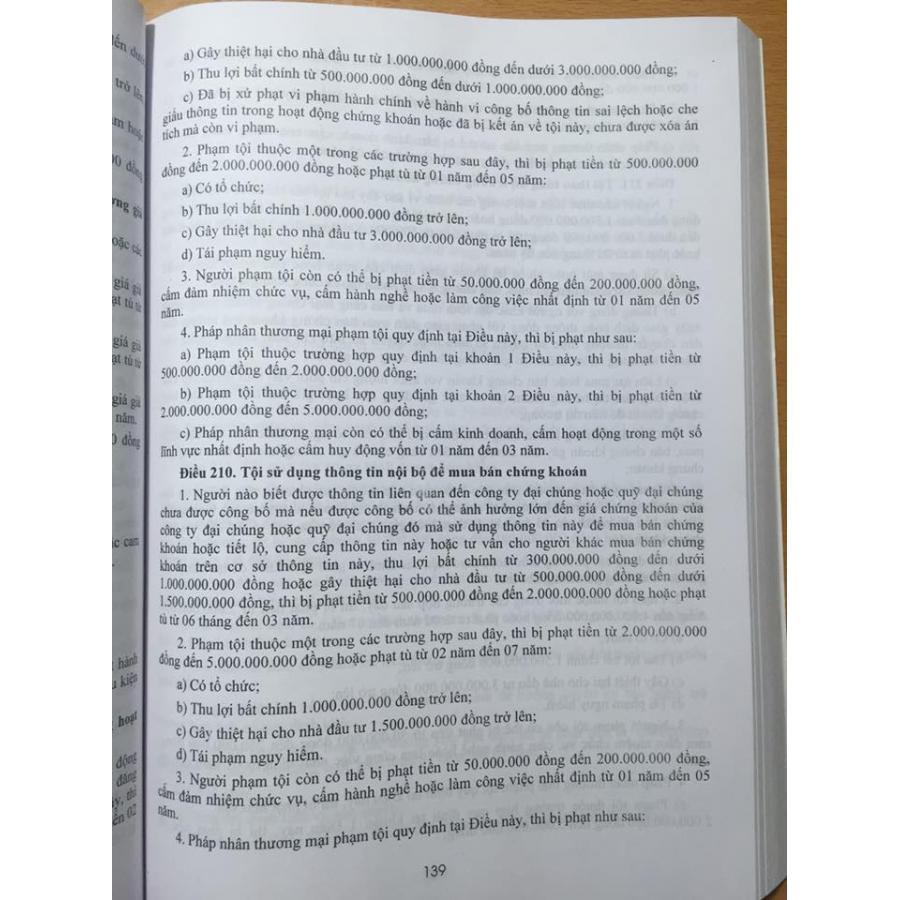 Chỉ dẫn áp dụng bộ luật hình sự