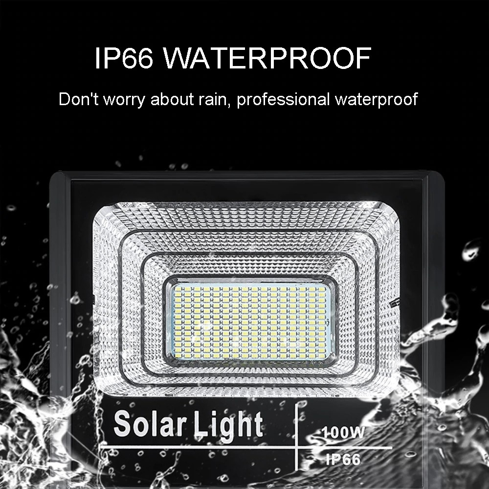 Đèn pha LED năng lượng mặt trời 100w IP66
