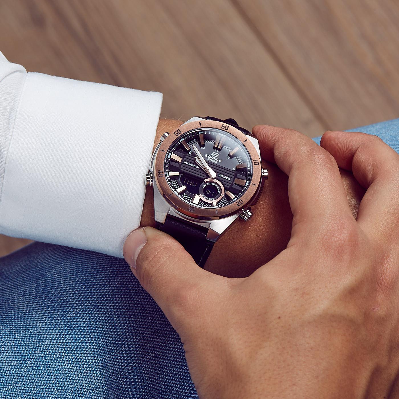 Đồng hồ nam dây da Casio Edifice chính hãng ERA-110GL-1AVDF