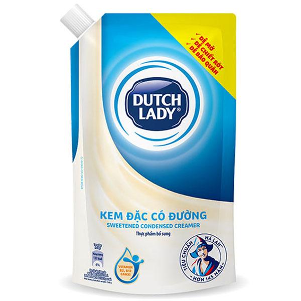 Kem Đặc Có Đường Dutch Lady Cô Gái Hà Lan Túi Thông Minh (560G)