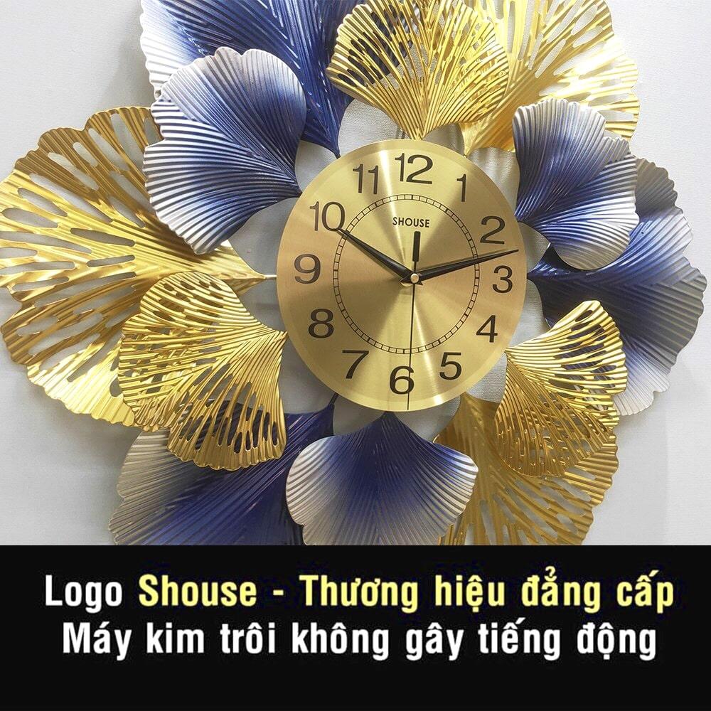 Đồng Hồ Treo Tường Trang Trí Kim Trôi DC220 Nghệ Thuật Cao Cấp Shouse hiện đại 3D kích cỡ lớn đẹp treo phòng khách
