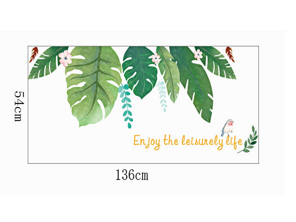 Decal dán tường lá nhiệt đới hoa xc9003