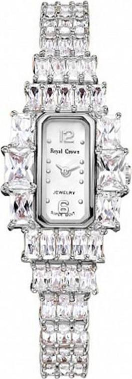 Đồng hồ nữ chính hãng Royal Crown 3612 dây đá vỏ trắng