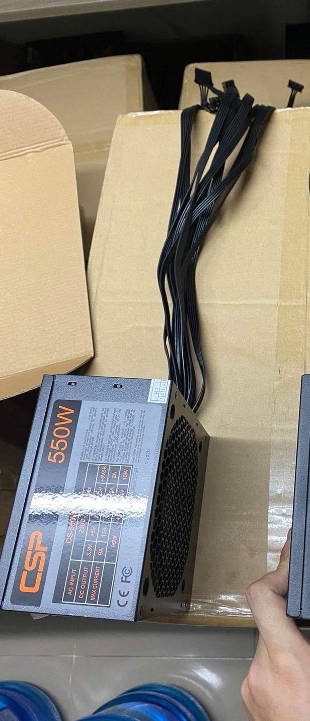 Nguồn 550w CSP công suất thực giá tốt