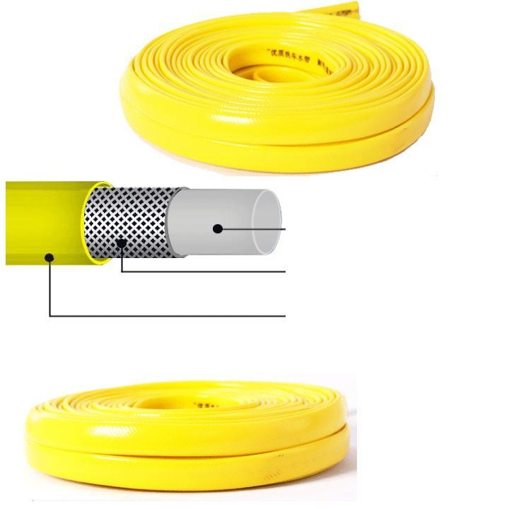 Bộ dây vòi xịt nước rửa xe, tưới cây đa năng, tăng áp 3 lần, loại 7m, 10m 206701-1 đầu đồng,cút,nối đen+ tặng móc khoá