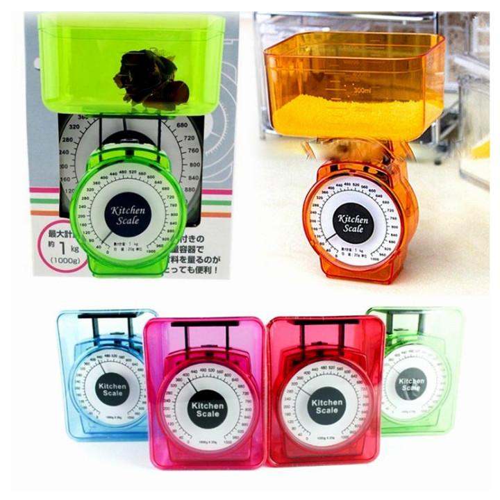 Cân nhà bếp mini nội địa Nhật Bản - Cân đồng hồ - Giao màu ngẫu nhiên