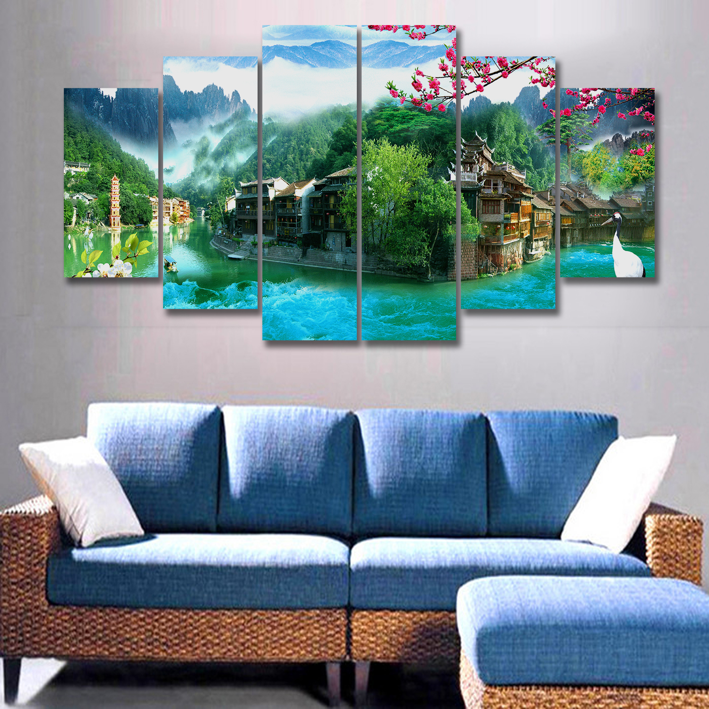 Tranh Canvas treo tường nghệ thuật | Bộ 6 bức | HLB_001