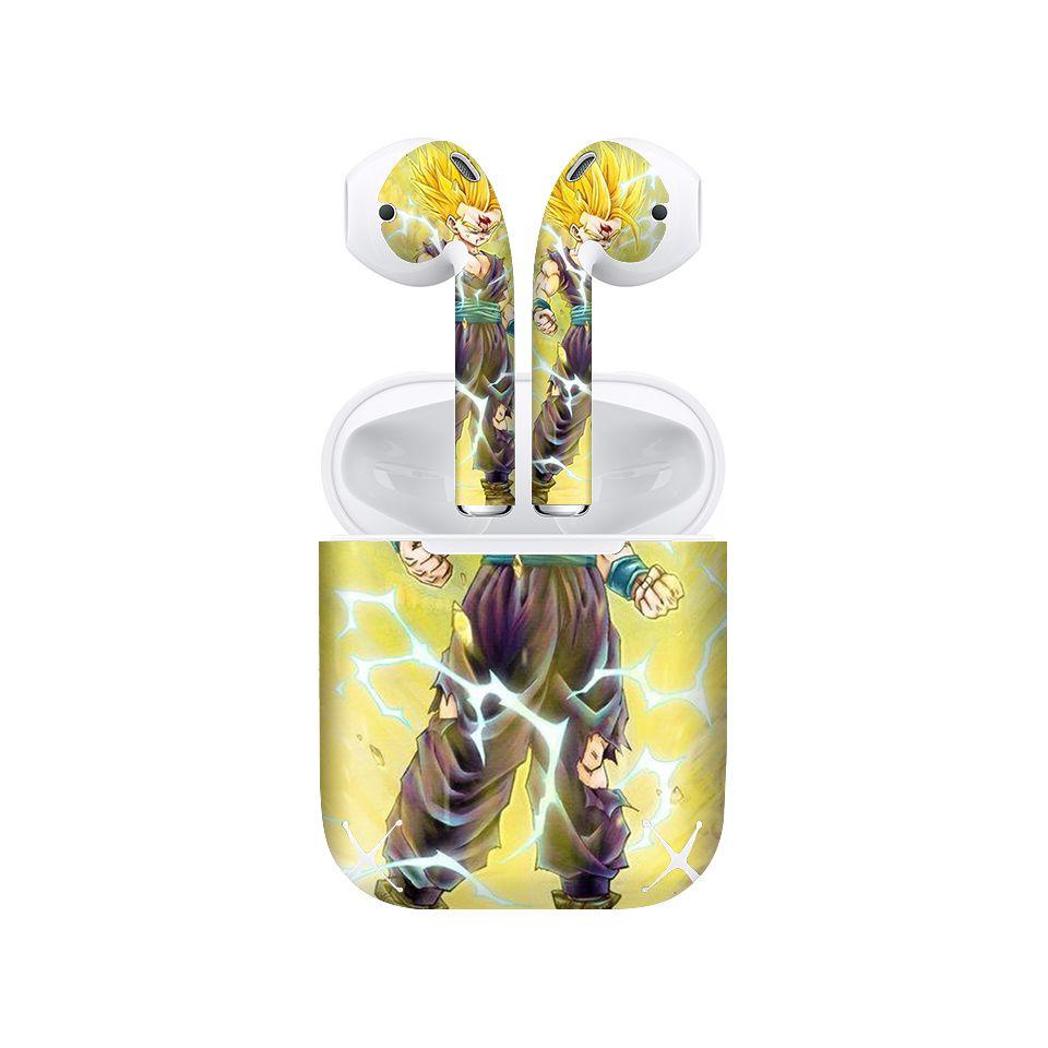 Miếng dán skin chống bẩn cho tai nghe AirPods in hình Songoku Dragon Ball - 7vnr038 (bản không dây 1 và 2)
