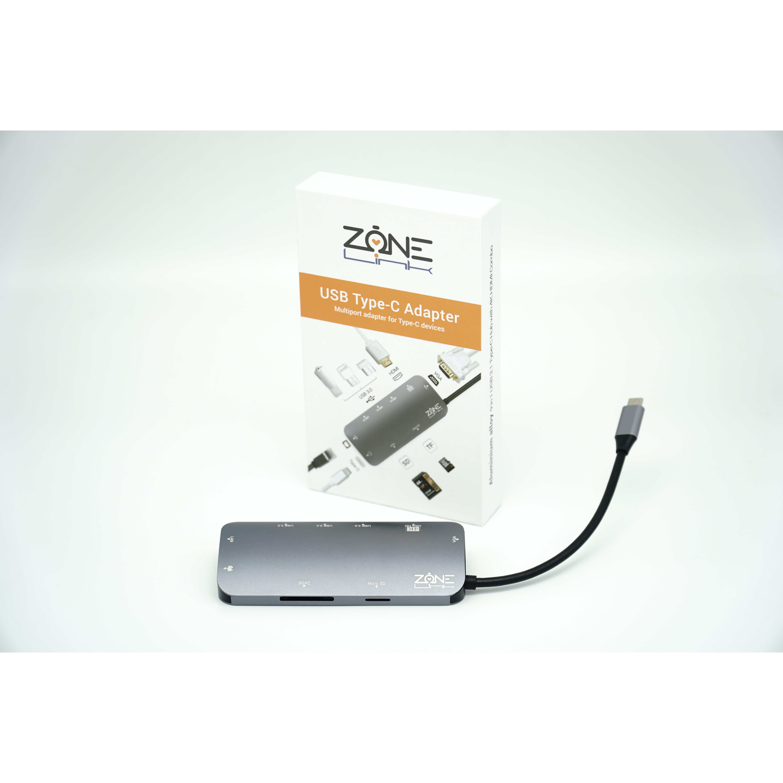 Cổng chuyển đổi USB-C ZONELINK Z9IN1 - Hàng chính hãng