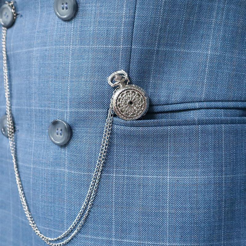 Đồng hồ quả quýt, đồng hồ quả quýt bỏ túi-Đồng hổ quả quýt màu bạc DQKLBA001