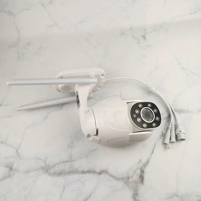 Camera IP Wifi Ngoài trời Yoosee PTZ 2 Râu FullHD 1080P 8 LED trợ sáng đàm thoại 2 chiều - hỗ trợ xoay 355 độ (Trắng) Hàng Nhập Khẩu
