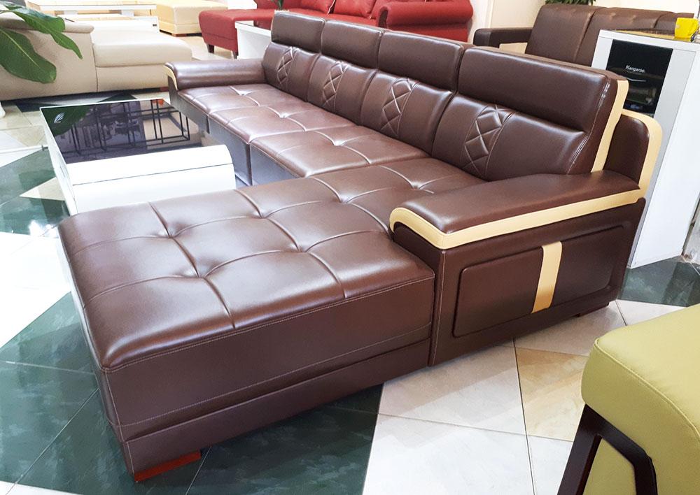Ghế Salon Góc L Phối Màu Sang Trọng - Sofa Góc Cho Phòng Khách