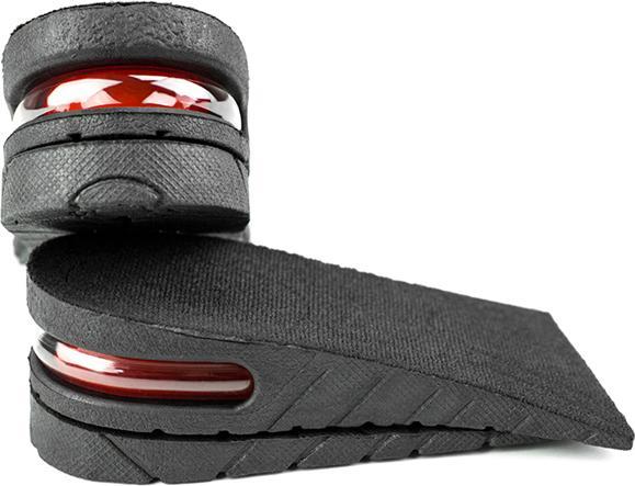 Lót giày tăng chiều cao cao su nửa bàn 2 lớp cao 5 cm (Màu Đen)