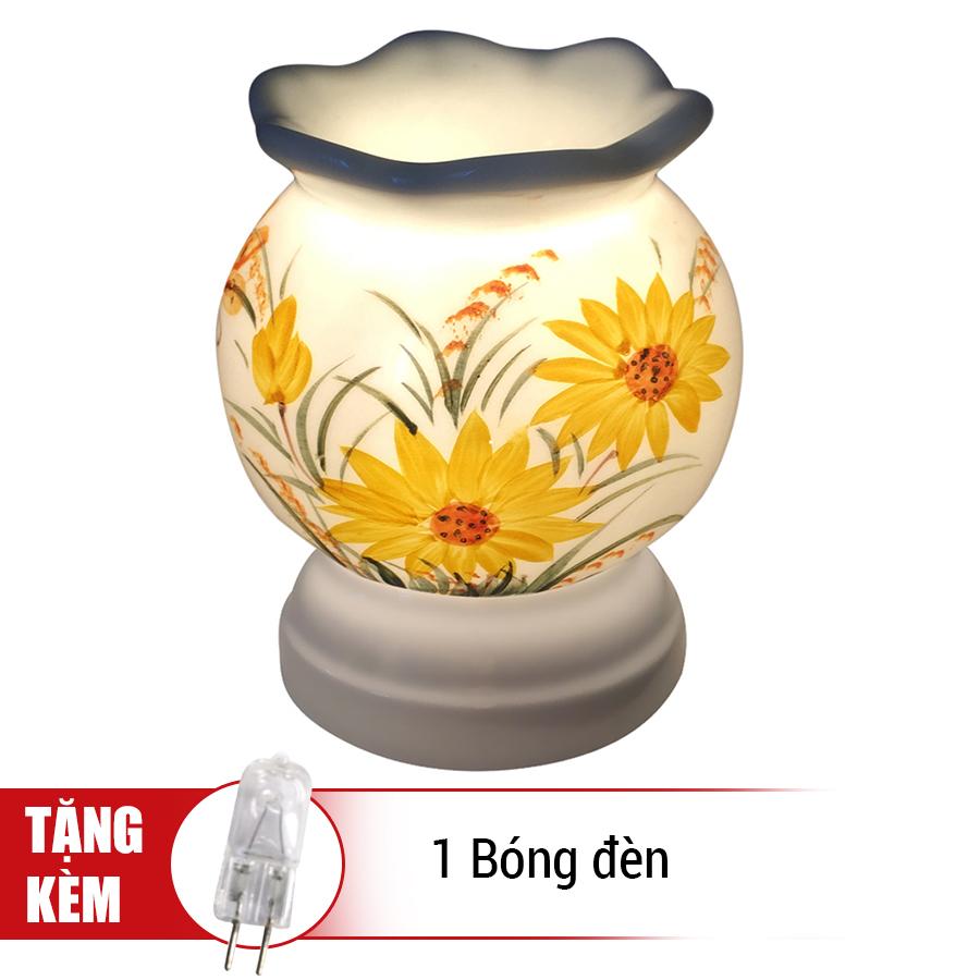 Đèn Xông Tinh Dầu Gốm MNB17 + Tặng Kèm 1 Bóng Đèn