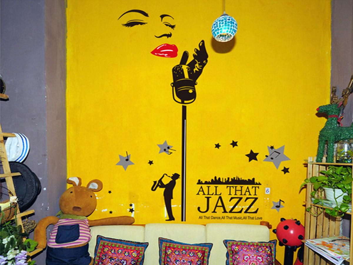 Decal dán tường micro hát và âm nhạc bst9020