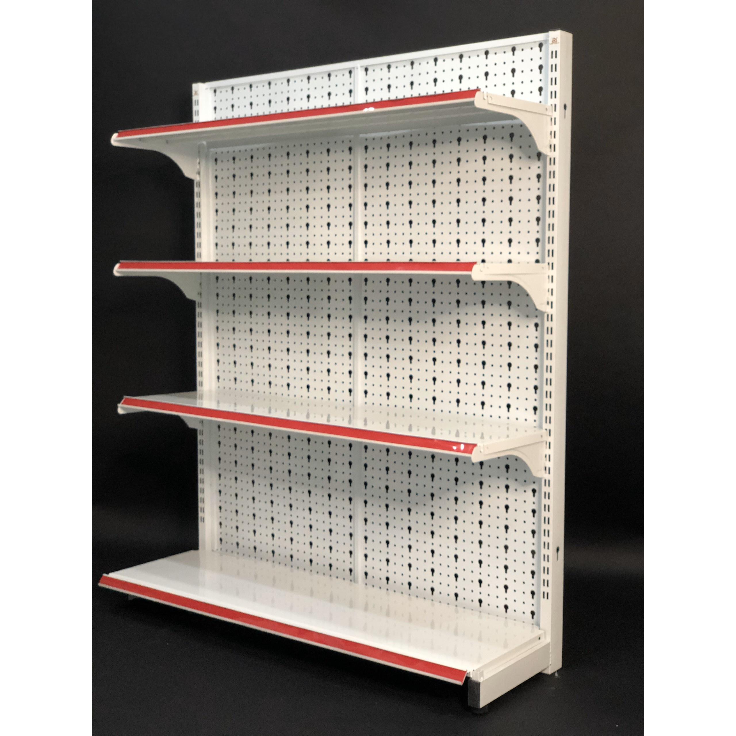 Kệ Tole Lỗ áp tường (1 mặt)-Dài 120 x Rộng 35 x Cao 150 x 4 tầng