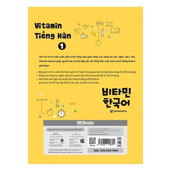 Vitamin Tiếng Hàn Tập 1 (Tặng kèm Bookmark PL)