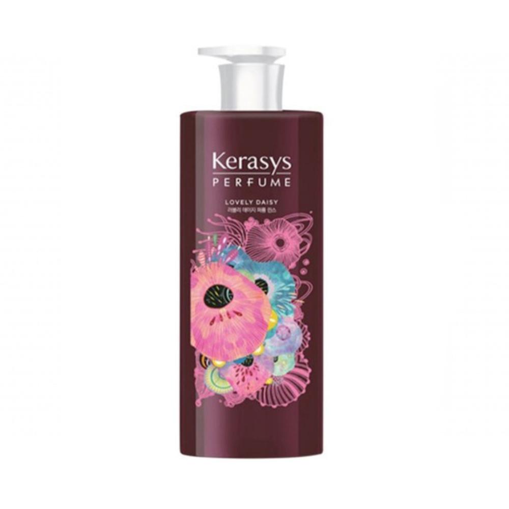 Bộ dầu gội, xả nước hoa cao cấp giúp chống lão hóa, dưỡng ẩm cho da đầu, bổ sung dưỡng chất giúp hạn chế hư tổn và gãy rụng cho tóc KERASYS LOVELY DAISY 600ml - Hàn Quốc Chính Hãng