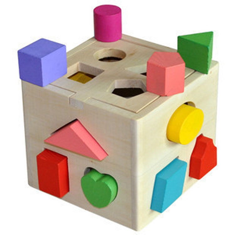 Đồ chơi hộp gỗ thông minh thả khối hình học