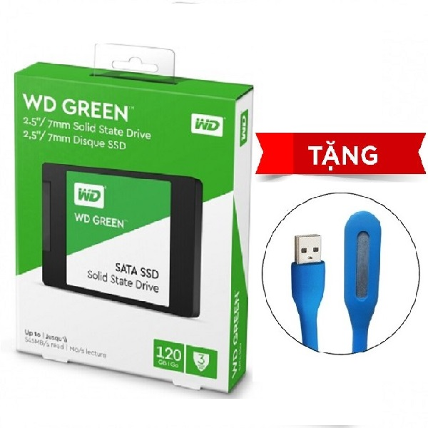 Ổ Cứng SSD WD Green 120GB 3D NAND - WDS120G2G0A - Hàng Chính Hãng + Tặng Đèn Led
