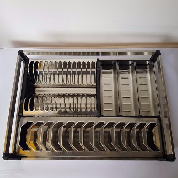 Kệ bát đĩa Inox hộp Gerari lắp thùng/cánh (A là lắp thùng, B là lắp cánh).