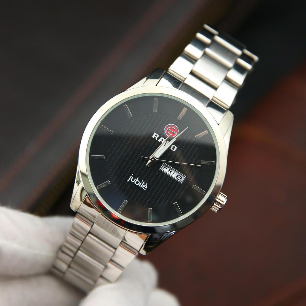Đồng hồ nam dây thép RA3051 - Hiển thị lịch thứ ngày tiện lợi – Phù hợp đi làm, đi chơi - Tặng pin dự phòng