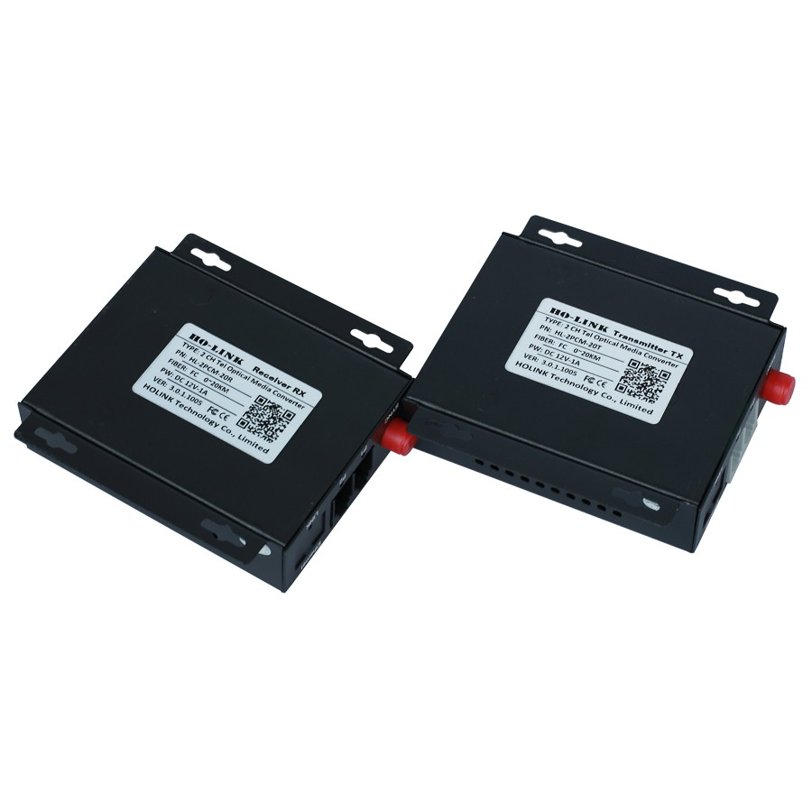 Bộ chuyển đổi quang thoại 2 kênh J11 HL-2PCM-20TR Ho-link - hàng Chính hãng