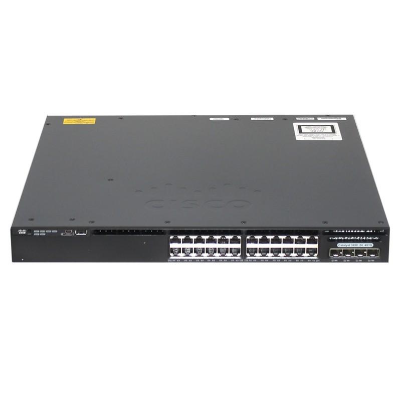 WS-C3650-24TS-S Cisco Catalyst 3650 24 Ports 10/100/1000, 4x1G Uplink IP Base - Hàng nhập khẩu