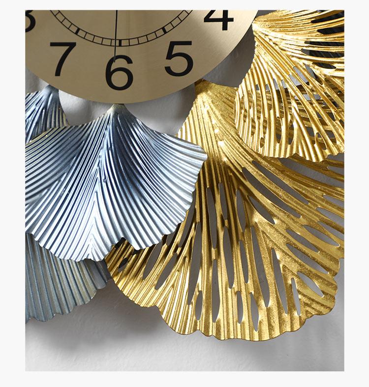 Đồng hồ treo tường trang trí decor hoa mai sắt DNS332 cao cấp (KT 60x60cm)