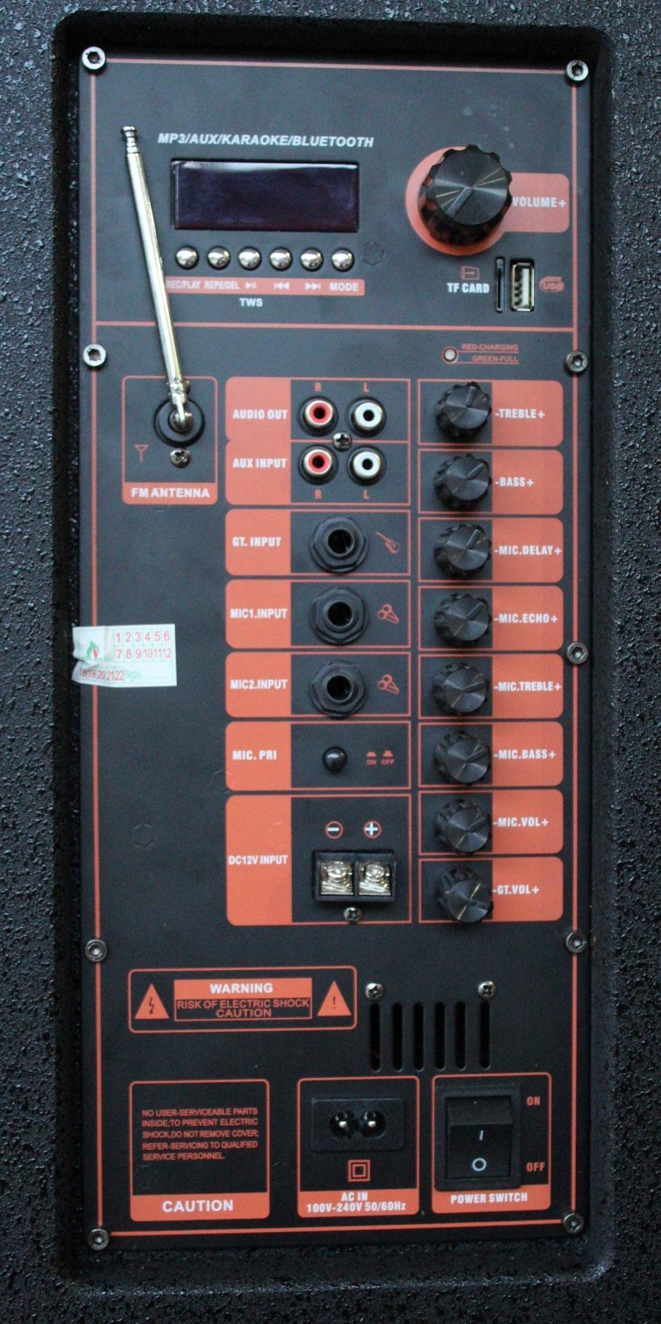 Loa Kéo Di Động Karaoke Bass 40 BMD LK-40B1 (800W) 4 Tấc - Chính Hãng