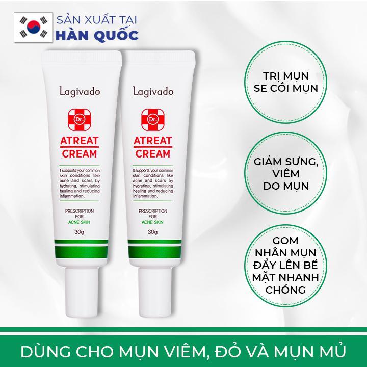Kem chấm giảm mụn Hàn Quốc Lagivado gom nhanh còi mụn, không để thâm sẹo, dành cho mụn mủ, mụn viêm Dr. Atreat Cream 30 g