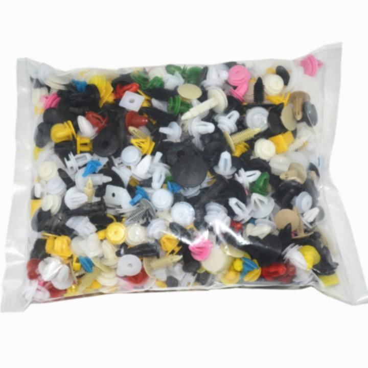 Bộ 500 Cái Đinh Tán Nhựa Cho Xe Hơi, Ô Tô - Chốt Vít Nhựa Cho Xe Hơi, Ô Tô