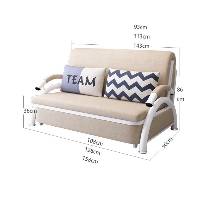 Giường ngủ gấp gọn Loại 1,58x1,9m - Ghế sofa kèm 2 gối