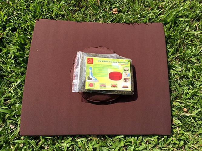 Tọa cụ đệm chữ nhật 60x70 cm vải thô dùng để lễ lậy, ngồi tụng kinh, thiền