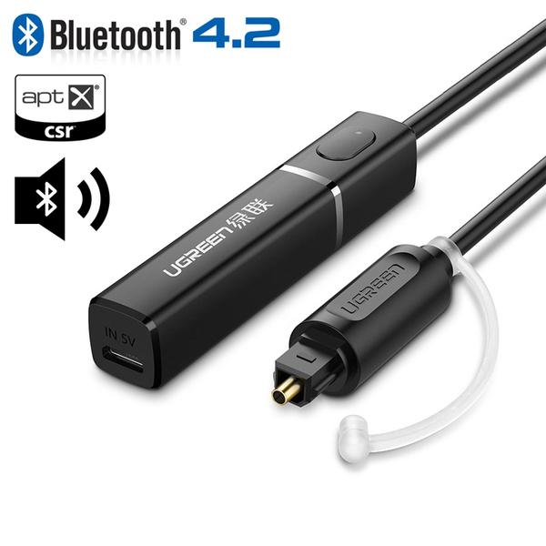 Bộ nhận âm thanh Bluetooth 4.2 (Đầu ra Quang) Ugreen 50213-Hàng Chính Hãng