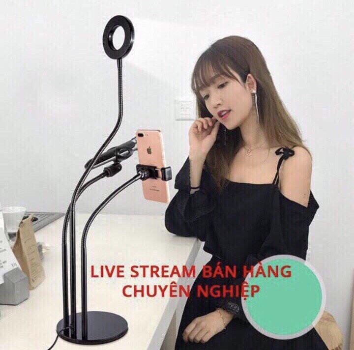 Chân đế kẹp mic thu âm và màn lọc âm - Dụng cụ livestream tặng kèm 1 móc khóa huýt sáo