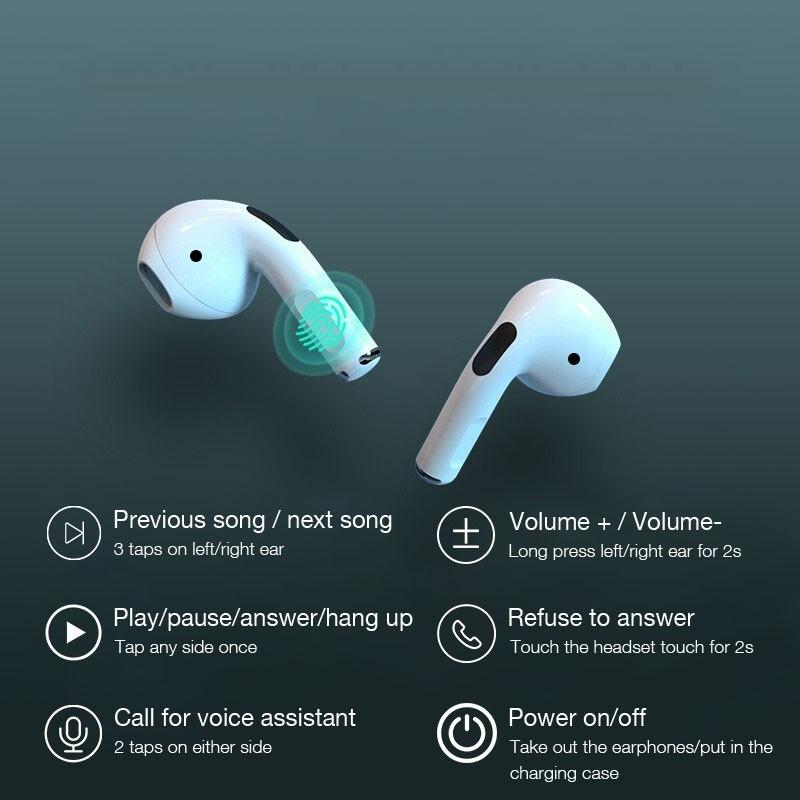 Tai nghe Bluetooth Lanith 5.0 đổi tên, định vị, cảm biển siêu nhạy - Hàng nhập khẩu - TAI00005W