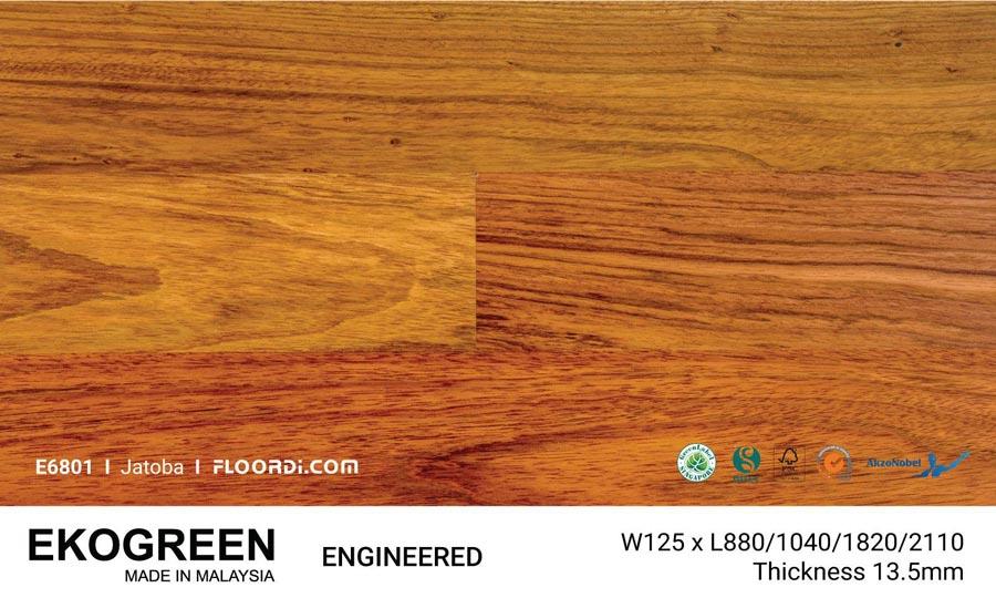 Sàn Gỗ Tự Nhiên Sàn Gỗ  Căm Xe Engineered Ekogreen E6801 Jatoba - 13.5mm