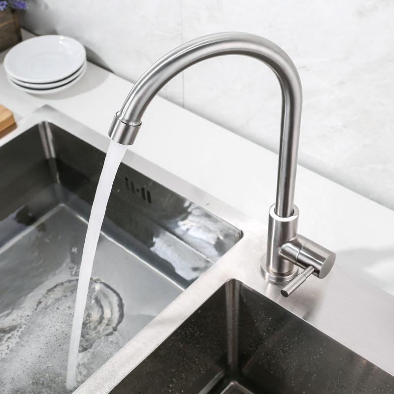 Vòi Rửa Bát, Rửa Chén Lạnh Gắn Chậu Inox 304 SUS304