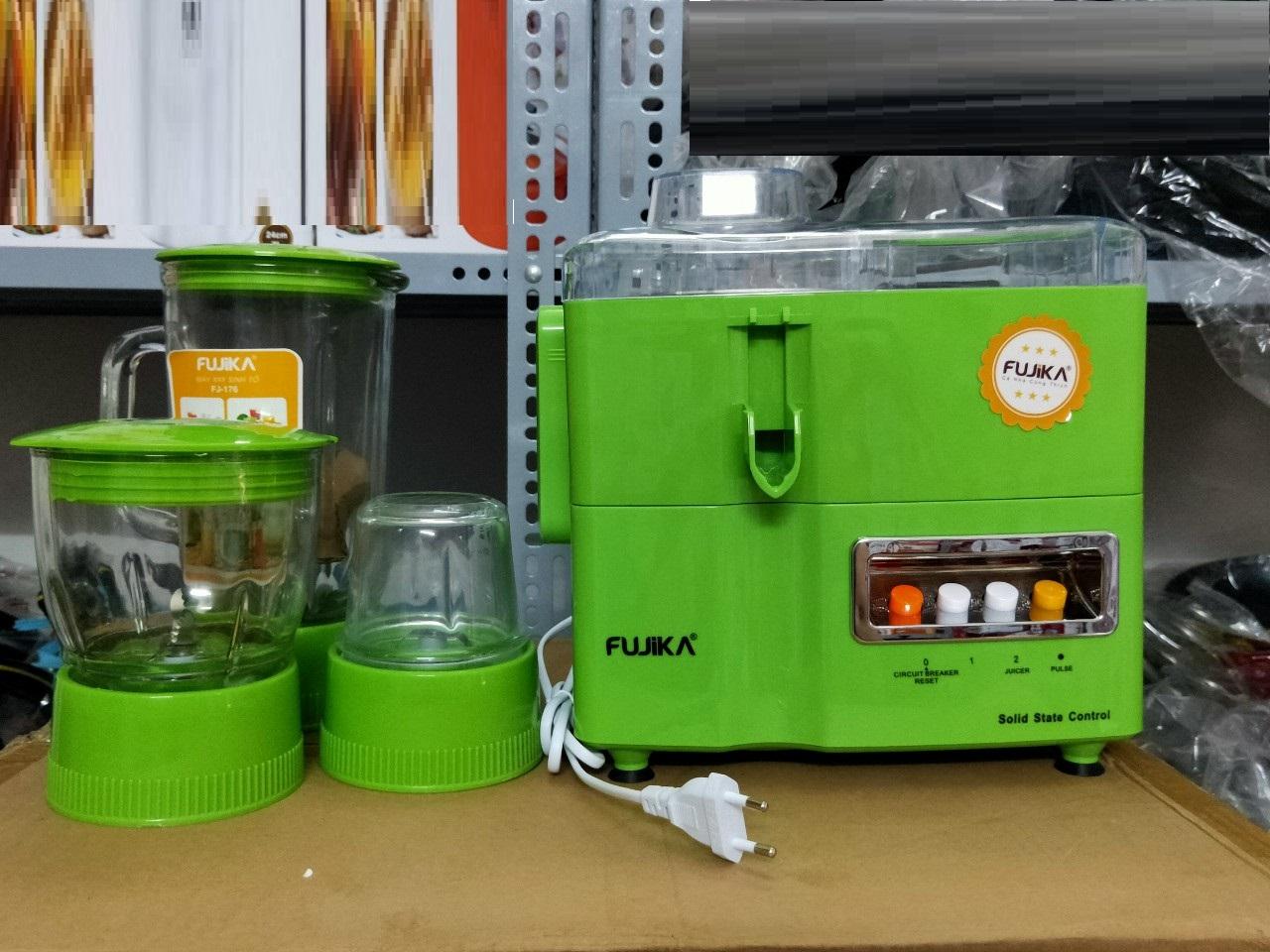 Máy xay ép đa năng 4 in 1 Fujika, dung tích cối thủy tinh 1L, màu ngẫu nhiên-hàng chính hãng