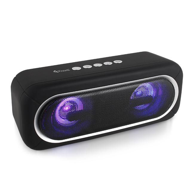 Loa bluetooth Kisonli S5 kiểu dáng soundbar đèn led cực đẹp, hỗ trợ kết nối 2 loa cùng lúc (màu ngẫu nhiên) Hàng Chính Hãng