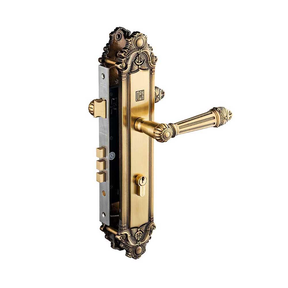 khóa tay nắm Huy Hoàng đồng rêu 8526 đại