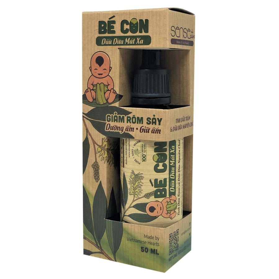Dầu Dừa Mát Xa Bé Con Baby Coco Massage Oil Sense+ (50ml)