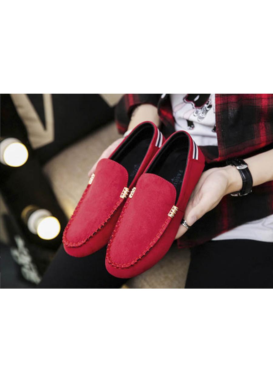 Giày Lười Nam Cao Cấp Thoáng Khí Ôm Chân Tazano - Màu Đỏ SV06