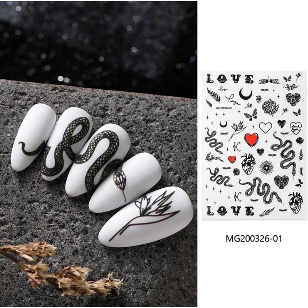 Sticker 3D - Hình dán móng rắn BYH087