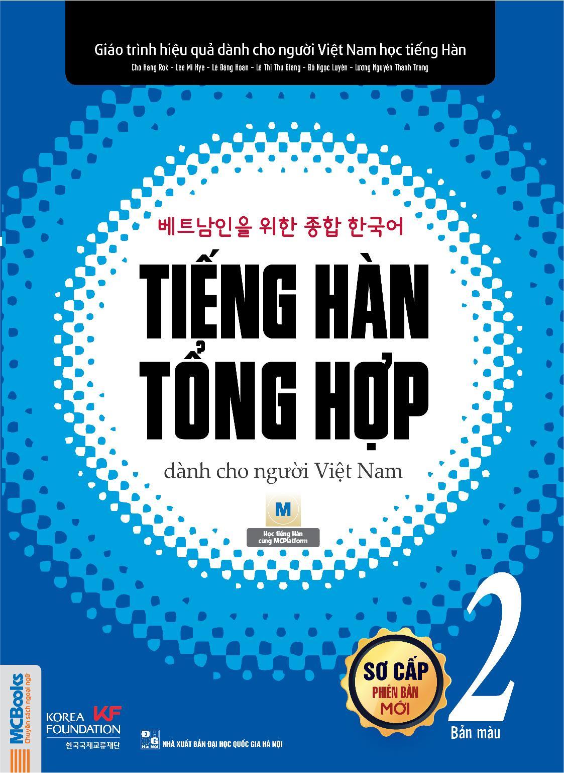 Sách trọn bộ tiếng hàn tổng hợp sơ cấp 2 dành cho người Việt Nam tặng sổ tay tiếng Hàn (Phiên bản màu)