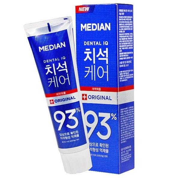 Bộ 3 Kem đánh răng MEDIAN Dental IQ 93% (Màu Xanh Dương) +Tặng Vỉ Đôi Bàn Chải Okamura Asahi