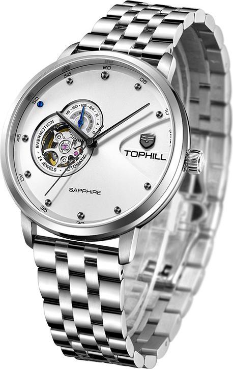 Đồng hồ nam máy cơ tự động chính hãng Thụy sĩ TOPHILL TW060G.S1658