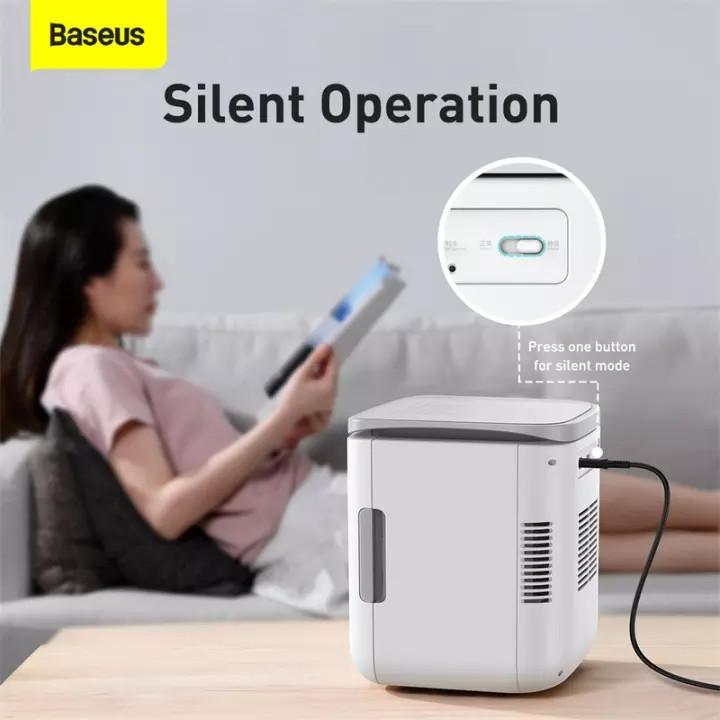 (Hàng chính hãng) Tủ lạnh mini Baseus dung tích 6L, hai chế độ làm lạnh và giữ ấm, dùng trên xe hơi, cho gia đình, văn phòng, ký túc xá,...