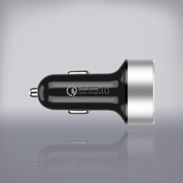 Tẩu sạc xe hơi 2 cổng USB QC 3.0 - Hàng chính hãng MOMAX